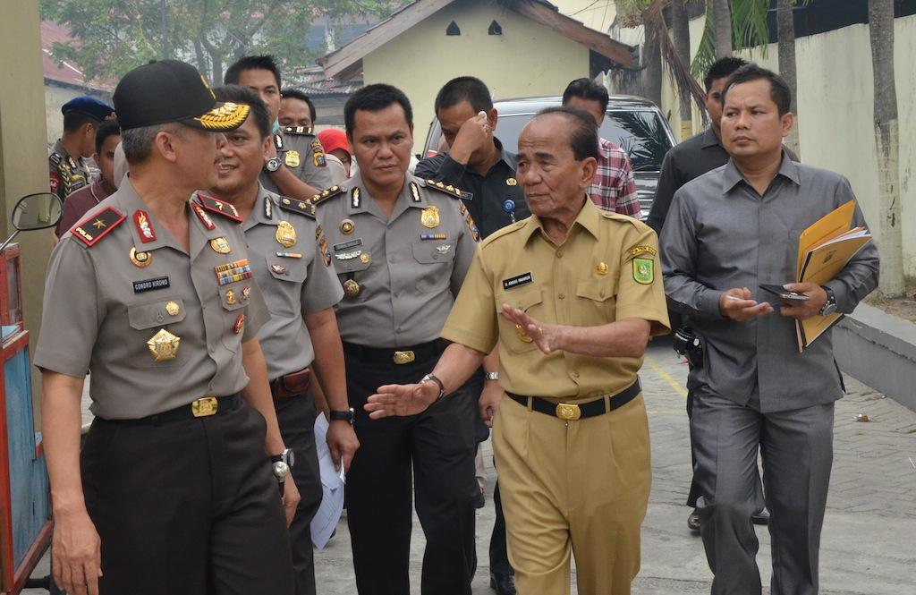Permalink ke Galeri: Gubernur Riau Tinjau RS Polri