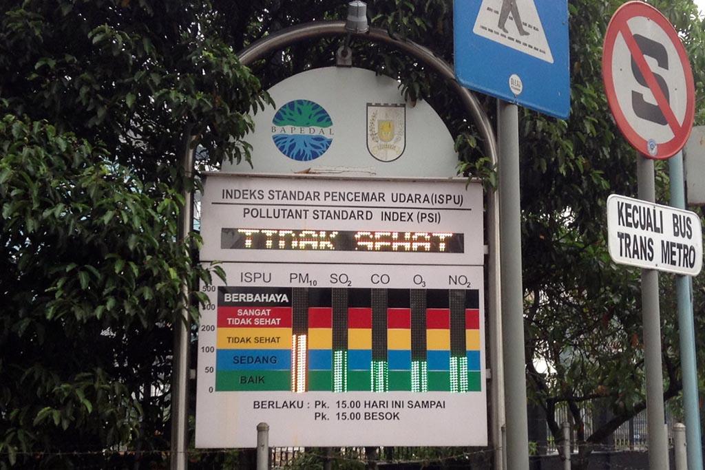 Udara kota Pekanbaru tidak sehat