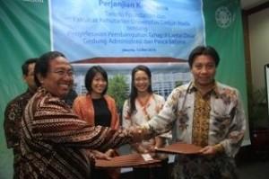 Jalin kerjasama Bangun Gedung Pasca Sarjana Fakultas Kehutanan
