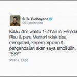 Akhirnya Presiden SBY Bereaksi