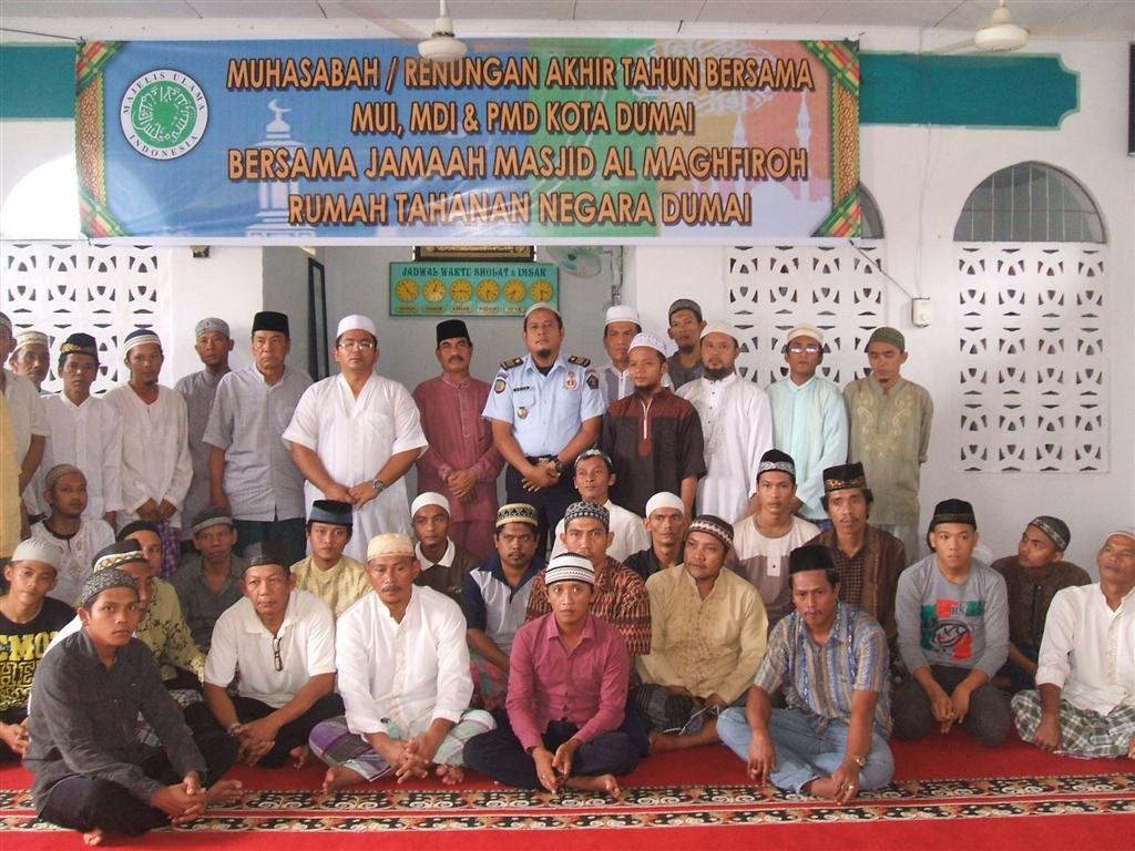 Muhasabah atau renungan Akhir Tahun bersama Jama'ah al Maghfirah Rutan Dumai