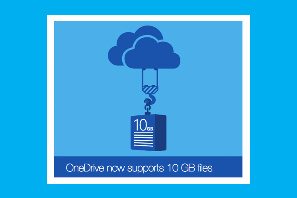 OneDrive Sekarang Mendukung 10 GB file, Kapasitas Gratis 15 GB