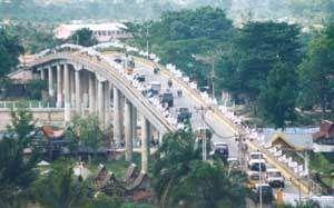 Permalink ke Posisi Jembatan Siak I Semakin Turun