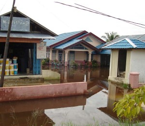 Permalink ke Sebuah Rumah Mewah di Rumbai Sudah Sebulan Terendam Banjir