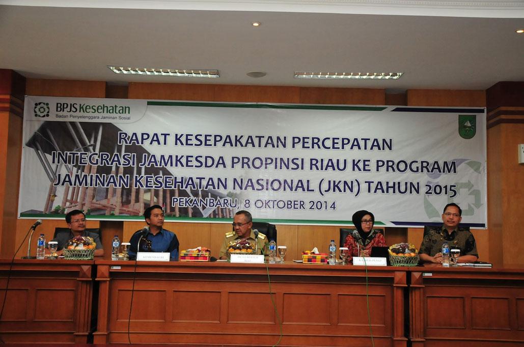 Permalink ke Rapat Kesepakatan Percepatan Integrasi Jamkesda Prov Riau