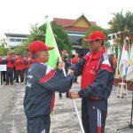 Pelepasan Kontingen Riau Untuk PON Remaja I di Surabaya