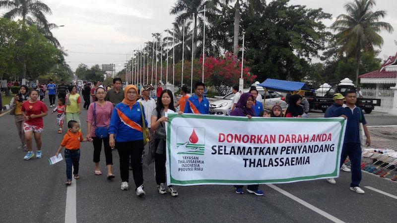 Peringati Hari Thalassaemia Sedunia: YTI Riau Sosialisasi Di CFD
