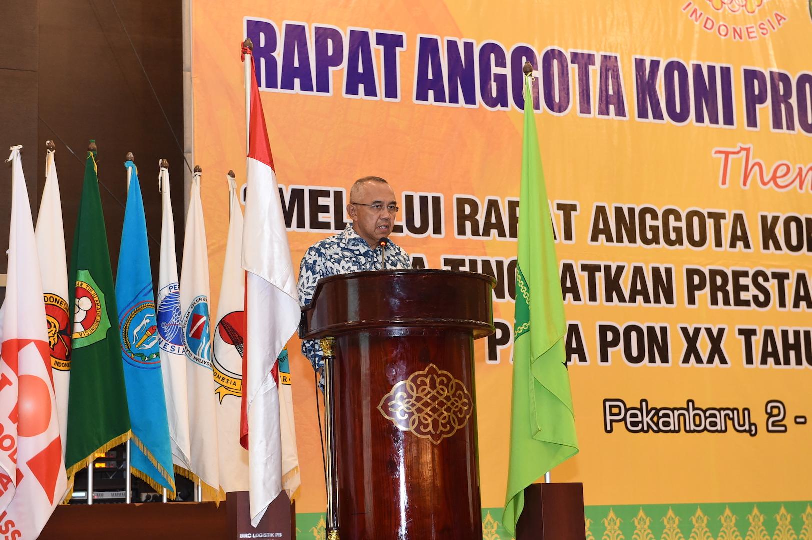 Permalink ke Gubri buka Rapat Anggota Koni Provinsi Riau Tahun 2017