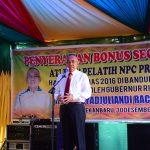 Gubri memberikan Hadiah Bonus Kepada Atlet NPC Prov Riau