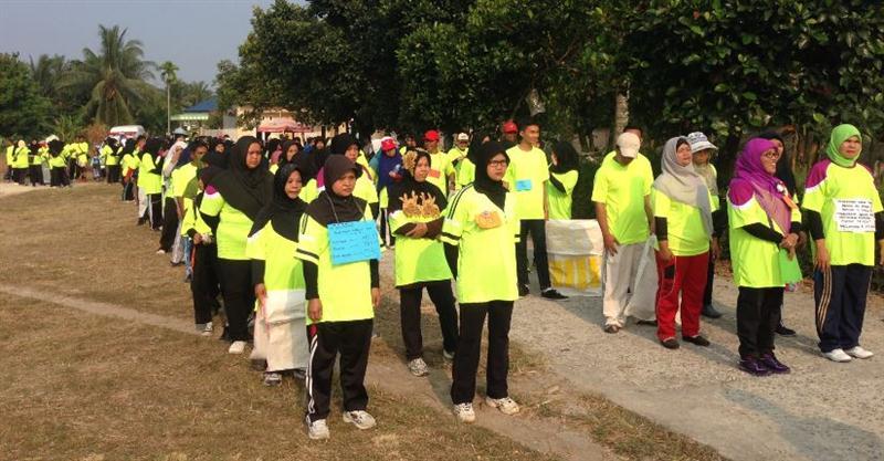 Peserta Kampanye Lingkungan Sehat dan Produktif yang digelar Chevron pada 3 April 2016 di Kelurahan Pematang Pudu, Mandau