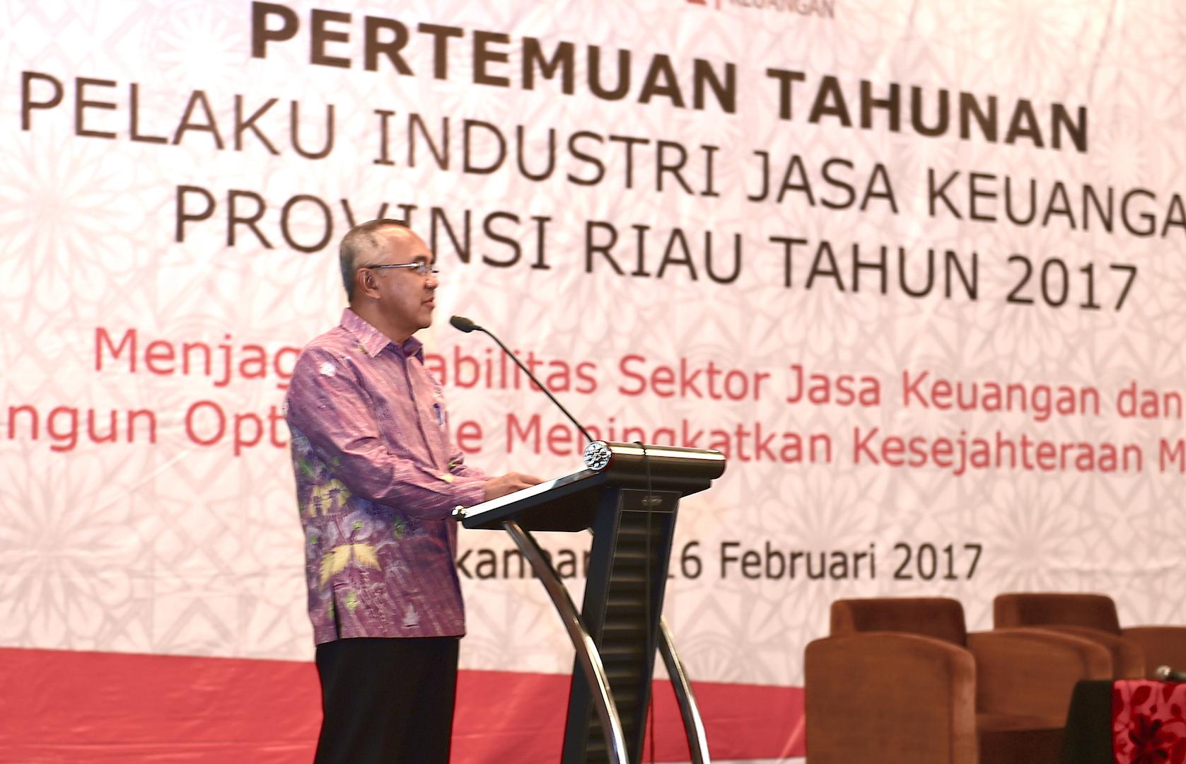 Permalink ke Pertemuan Tahunan Pelaku Industri Jasa Keuangan Prov Riau Tahun 2017