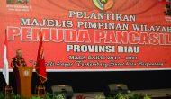 Permalink ke Gubri hadiri Pelantikan Pengurus MPW Pemuda Pancasila Prov.Riau