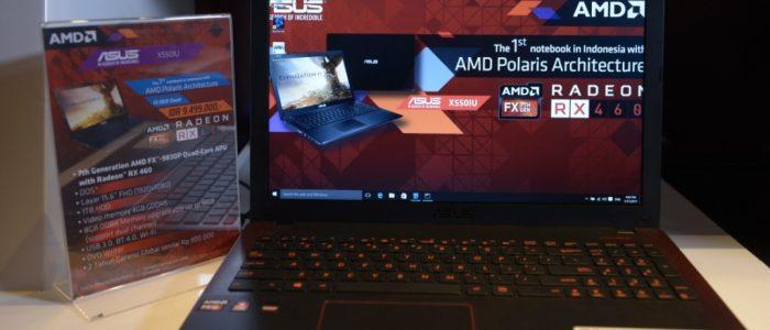 ASUS X550IU Notebook Gaming Pertama dengan AMD Polaris