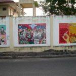 Sosialisasi Bahaya Narkoba Lewat Lukisan di Tembok Pagar